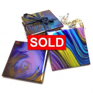 Fluid Art Coasters