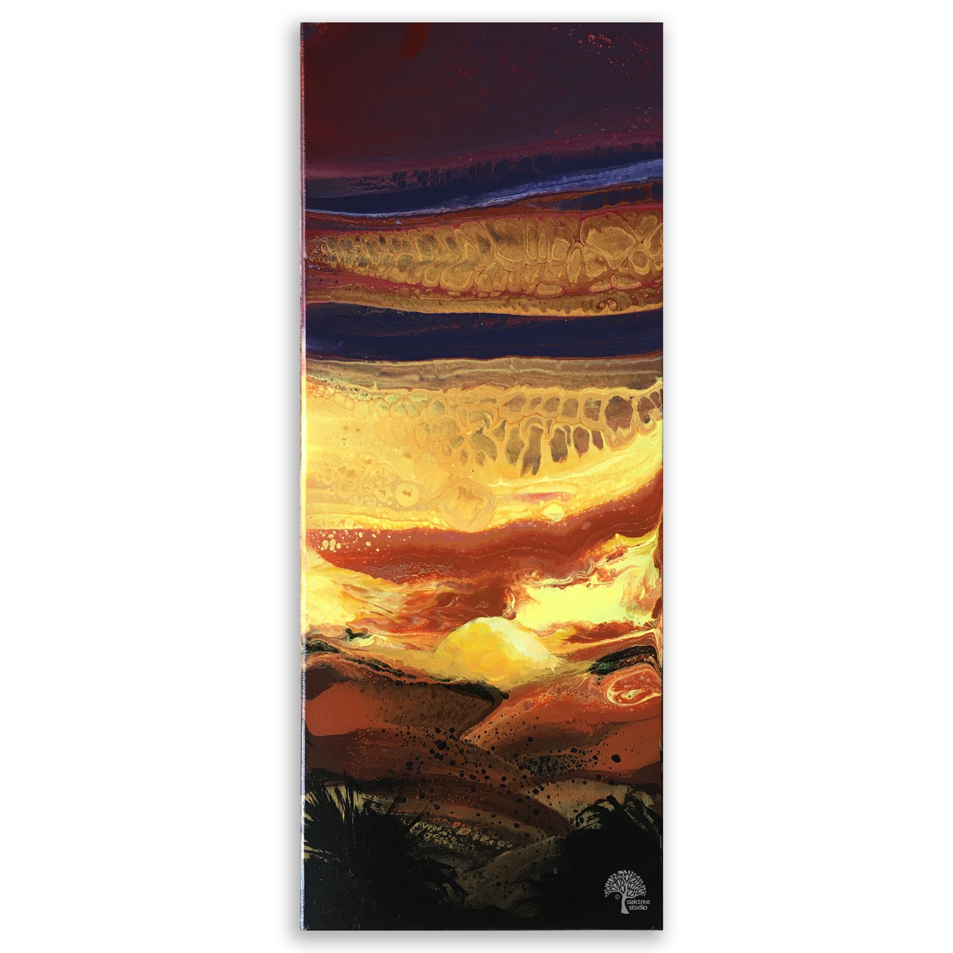 Fluid Art Sunset Pour