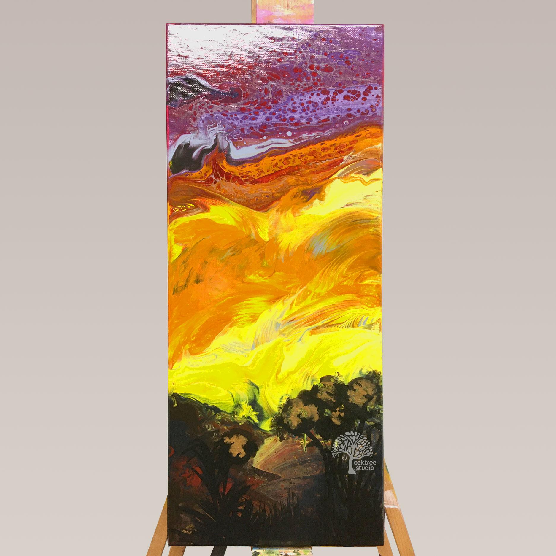 Fluid Art Sunset