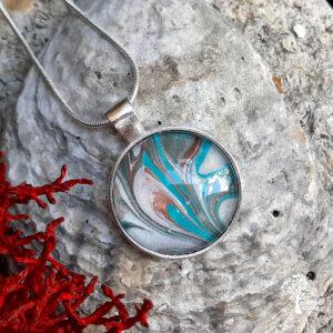 Fluid Art Acrylic Skin necklace