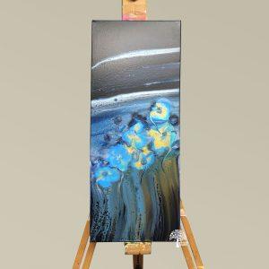 Forget Me Nots - Fluid Art Painting