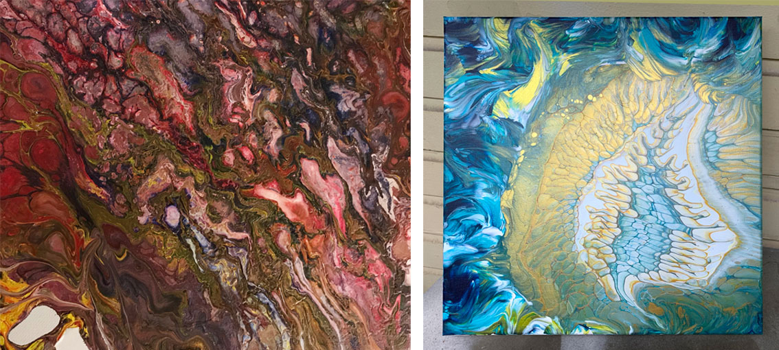 Heather Mader First and Recent Painting