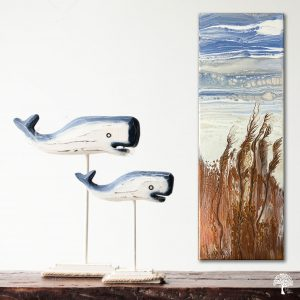 Fluid Art flip cup and swipe 'Grasslands' by Julie Vatcher
