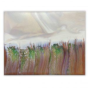 'Savannah' Fluid Art Painting by Julie Vatcher