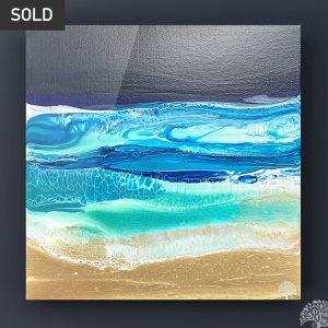 Fluid Art Seascape by Julie Vatcher