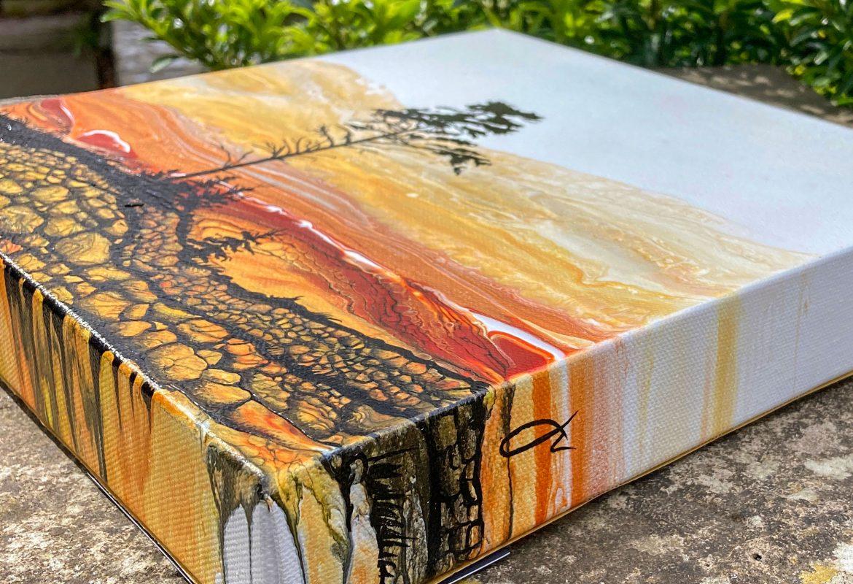 Fluid Art by Julie Vatcher Autumn Landscape 5